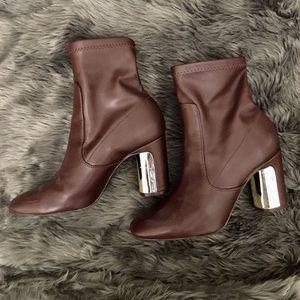 Zara burgundy ankle boots